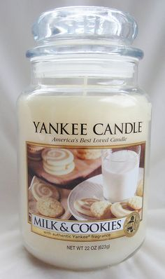 Yankee Candle Milk and Cookies 22 oz Housewarmer Jar Candle Candlestick Chart, Candlestick Lamps, Candlestick Holders, Candlesticks, Candle Jars, Candles For Less, Candles With Jewelry Inside, Candles By Victoria, Milk Cookies
