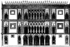 Venice architecture illustration