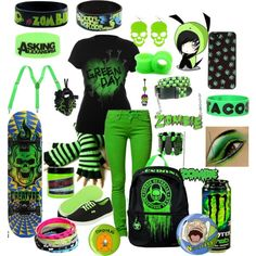 """Green Shitilanb=aiobnlkd. nom nomr . nar sht... stuff"" by sparklness1514 on Polyvore"