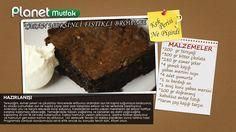 """""""Kek Perisi"""" programında Başak Ergen'in sizler için yaptığı """"Yaban Mersinli Fıstıklı Brownie"""" tarifi."""