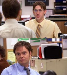 The Office- Jim and Dwight swap