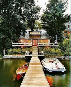 This is so perfect the house & dock you can swim off it, fish, ski doesn't get much better!