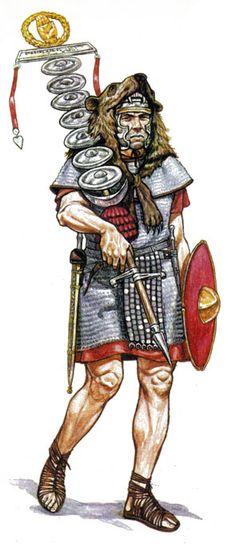 Сигнифер манипулы Roman Warriors, Celtic Warriors, Ancient Rome, Ancient History, Roman Legion, Roman Soldiers, Roman History, Dark Ages, Roman Empire