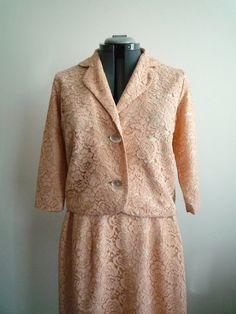 Lace Wedding Suit Vintage Bridal Suit Formal by ShantyIrishVintage #shantyirishvintage #vintagewedding #womensvintage #fashion #lace #mothersdaygift