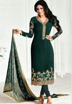 #Khwaab #Zaaina Georgette #SalwarKameez Suit Vol3 1125 #Green