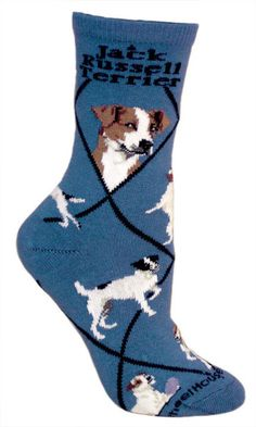 The Jack Russell Terrier is a bold, friendly, active and alert hunting terrier, built for work underground. This breed is notoriously fearless and requires little encouragement to go to ground. Fits a women's shoe size 6-8.5.