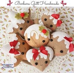 elf crafts to sell Felt Christmas Decorations, Felt Christmas Ornaments, Christmas Gingerbread, Christmas Themes, Gingerbread Ornaments, Christmas Makes, Noel Christmas, Homemade Christmas, Xmas Crafts