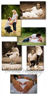 maternity photo shoot idea. Love the kissing belly, and laying down ones @ melodyetheredge
