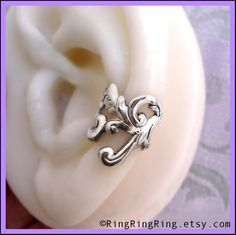Unique Empire ear cuff earring jewelry Antiqued by RingRingRing, $38.00