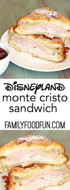 This Copycat Disneyland Monte Cristo Sandwich from FamilyFoodFun.com tastes just like the real thing!
