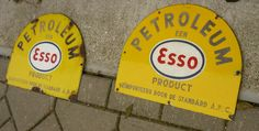 SOLD Esso enemal signs 1950's  www.royalcrown.nl