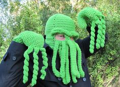 Cthulhu Ski Mask for Halloween by Cherie Burbach