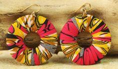 'Ewurayaa,' Handmade Cotton Dangle #Earrings from West Africa