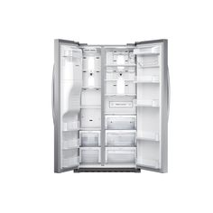 Shop Samsung 22.3-cu ft Side-by-Side Counter-Depth Refrigerator with Single Ice Maker (Stainless Steel) ENERGY STAR at Lowes.com $1889