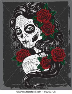 Royalty-free Day of dead sexy girl with roses.… #172876967 Stock ...