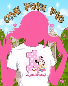 baby minnie mouse birthday iron on heat transfer digital or printed