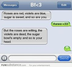 Page 4 - autocorrect fails and funny text messages - smartphowned Roses Are Red Funny, Roses Are Red Poems, Red Roses, Funny Texts Crush, Funny Text Fails, Funny Text Messages, Hilarious Texts, Epic Texts, Funny Pranks