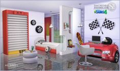 Hi-Speed kids bedroom at SIMcredible! Designs 4 • Sims 4 Updates