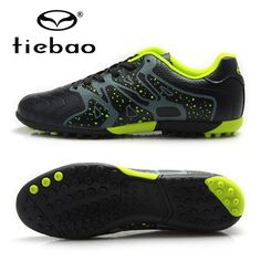 best loved a63a5 4ac08 TIEBAO Professional Boys Football Soccer Shoes Top Quality TF Turf Rubber  Soles Black Soccer Cleats Sports