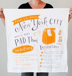 New York City Cotton Screen Printed 30x30 by emilymcdowelldraws, $20.00