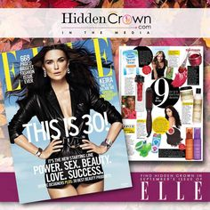 Hidden Crown Hair Extensions made another grand appearance.  Find us in the September issue of ELLE Magazine!  www.hiddencrown.com