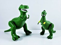 Disney Pixar Toy Story 3 Dinosaur Rex Figures Lot Of 2 Mattel 2012 Posable #Mattel Toy Story Figures, Toy Story 3, Action Figures, Dinosaur Toys, Dinosaur Stuffed Animal, Army Men Toys, Plastic Soldier, Secret Life Of Pets, Childhood Toys