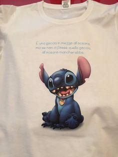 #tshirt per bambino con l'illustrazione di #stitch dal film animato #disney #liloestitch