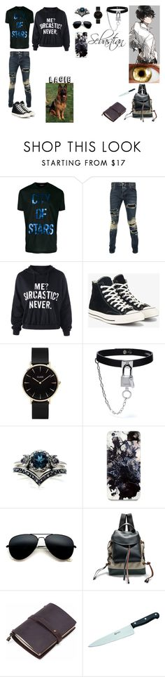 """""""Sebastian"""" by kitty-love0168 on Polyvore featuring Dsquared2, Philipp Plein, Converse, CLUSE, Fifth & Ninth, Marni, Böker, men's fashion and menswear"""