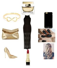 """""""Gold & Black Prom Night"""" by qveen-james ❤ liked on Polyvore"""