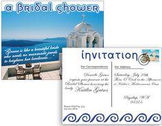 Greek Themed Bridal Shower Invite for Kaitlin's Bridal Shower