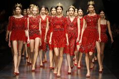 The finale: Dolce & Gabbana Winter 2014 Womens fashion show.
