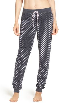 Comfy and cozy in supersoft jersey speckled with classic polka dots.