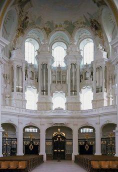 Neresheim (Germania Bade-Wurtemberg) Klosterkirche, Organo Holzey (1797)/Kuhn, 1979, III/P/48