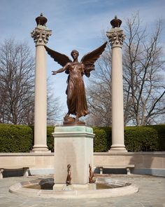 Ball State University-don't blink, don't even blink. I passed this statue 4 times a day for a week.