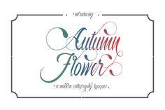 Autumn Flower Script by Thirtypath available for $7.20 at https://fontbundles.net/junherjuna/575-autumn-flower-script/rel=LJfiKy