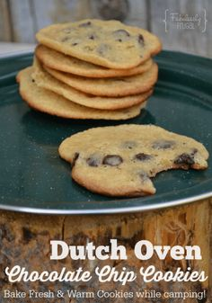 Chocolate Chip Cookies in Dutch Oven