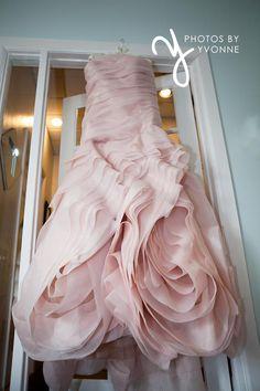Photos by Yvonne: Toledo, OH Wedding Photographer, feminine blush Vera Wang wedding dress