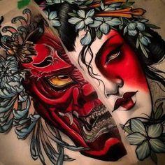 Resultado de imagem para hannya tattoo