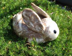 Handmade Ceramic Bunny by DawnDavareDesigns on Etsy, $12.00