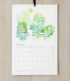 2013 Wall Calendar  12 Watercolor Botanical Art by finedaypress, $35.00