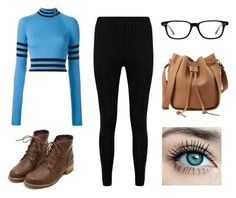 """""""Blue Jay"""" by kittykitkat132 ❤ liked on Polyvore featuring Versace, Boohoo and Converse"""