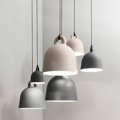 The Normann Copenhagen Grey Bell pendant light is robust, the form is simple. Bell is a pendant lamp in an iconic bell shape. Interior Lighting, Home Lighting, Lighting Design, Pendant Lighting, Pendant Lamps, Contemporary Pendant Lights, Contemporary Home Decor, Norman Copenhagen, Copenhagen Denmark