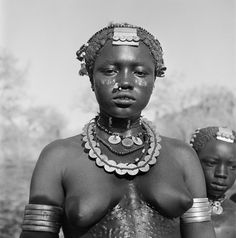 Africa | Portrait of a Nuba woman.  Kordofan.  Sudan. 1949 | © George Rodger