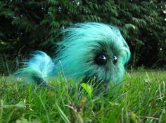 Teal Mmpoff  OOAK posable fantasy creature by CMWyvern on Etsy