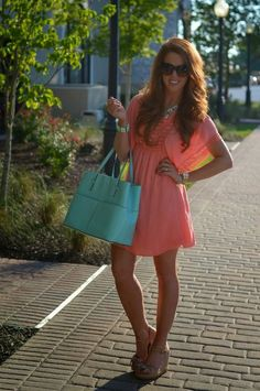 Coral and Mint  #