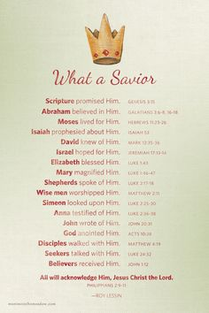 Jesus our Lord & King, oh what a Savior!