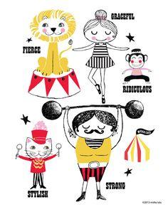 Circus Print by Misha lulu.
