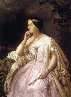 Portrait of Harriet Howard (1823-1865), née Elisabeth-Ann Haryet, mistress of the later emperor Napoleon III of France, styled countess de Beauregard  | Henriette Jacotte Cappelaere (1850)