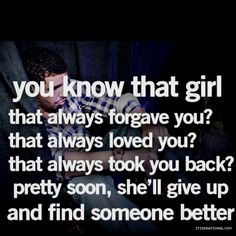 So glad I moved on and found something better than you(: