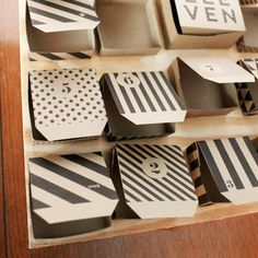 free printable: black and white patterned boxes